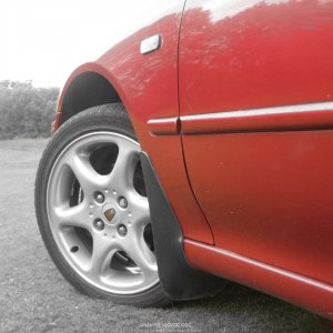 "Rover 600 nightfire red and 17"" vitesse alloy wheel"