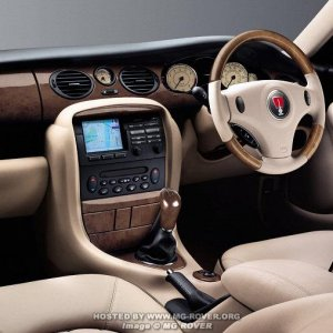 04 Model Year Rover 75 Interior (Facelift)