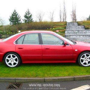 1997 Rover 600ti Nightfire Red side view