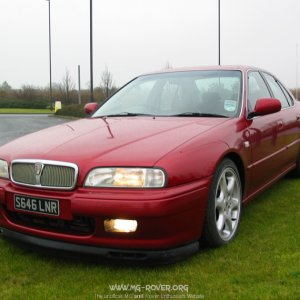 1997 Rover 600ti nightfire Red front view