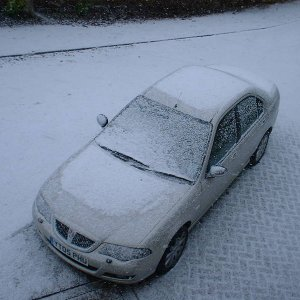 Rover 45 in the Snow