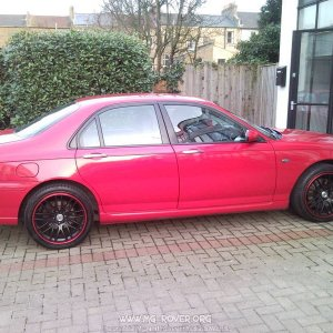 "Red MG ZT on 18"" CSL Matt Black with Red Lip"