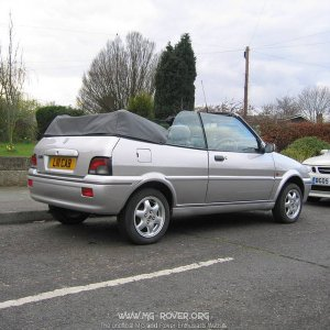 "My Rover 114 Cabrio known as ""Little Cab"""