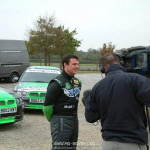 Mark Blundell being Interviewed