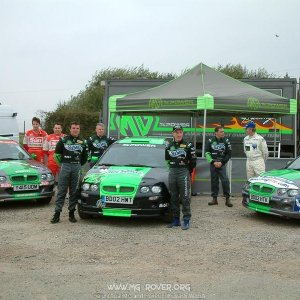 The MG ZR Rally car teams