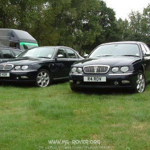 Rover 75 Vanden Plas (On The Right)