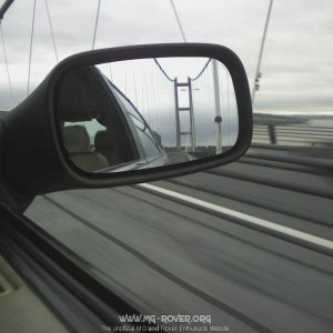 going over Humber bridge sept 2009