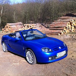 My MG TF135 in Trophy Blue