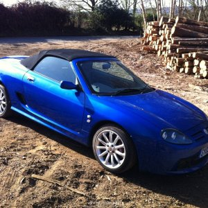 My MG TF130 in Trophy Blue